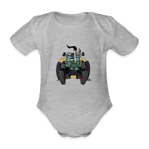 0163 F - Baby bio-rompertje met korte mouwen