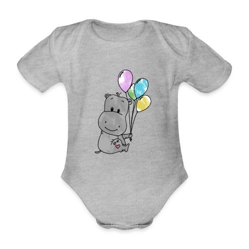 Hippo - Baby Bio-Kurzarm-Body