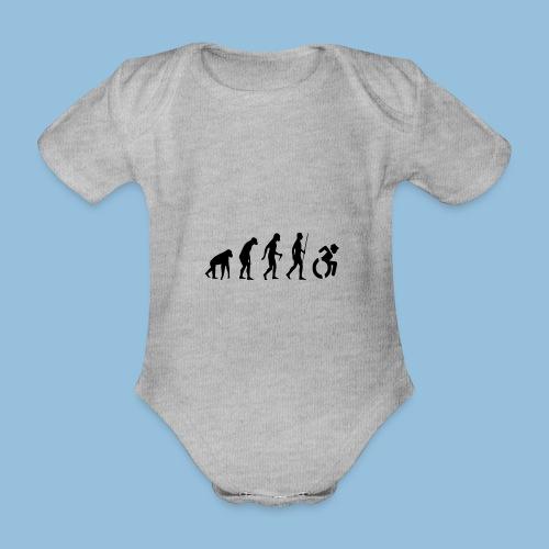 EvolutionWheelchair2 - Baby bio-rompertje met korte mouwen