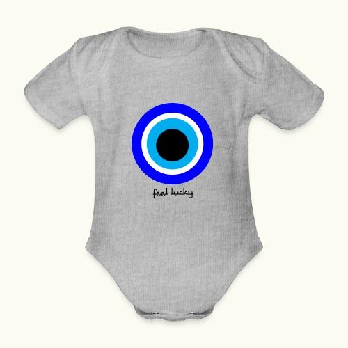 luck eye - Baby bio-rompertje met korte mouwen