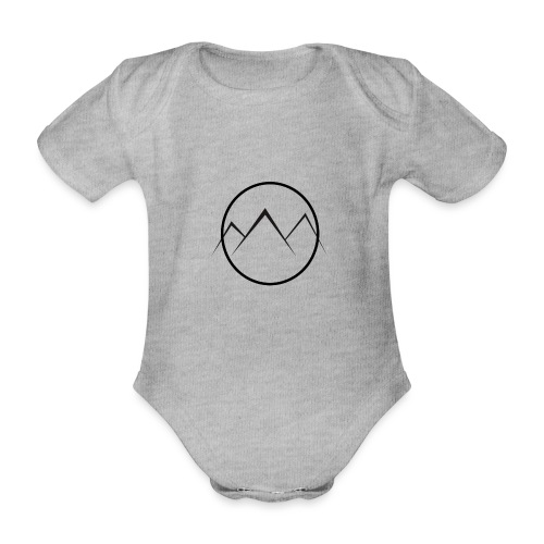 World of Mountains - Organic Short-sleeved Baby Bodysuit