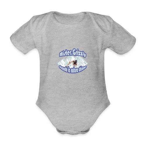 MISTER GRIZZLY - Body ecologico per neonato a manica corta