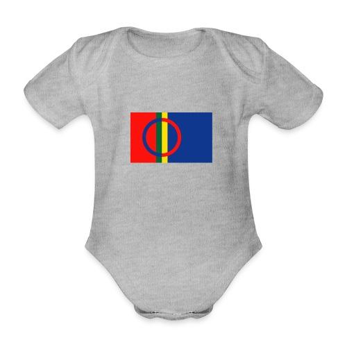 Samiska flaggan - Ekologisk kortärmad babybody