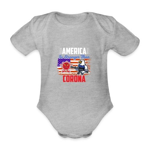 America against Corona - Baby Bio-Kurzarm-Body