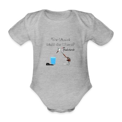 Der Lümmel Trinkt das Wasser - Baby Bio-Kurzarm-Body