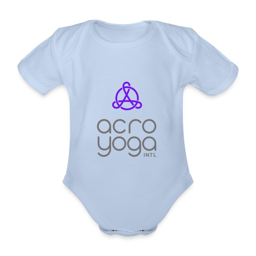 AcroYoga International Logo - Organic Short-sleeved Baby Bodysuit