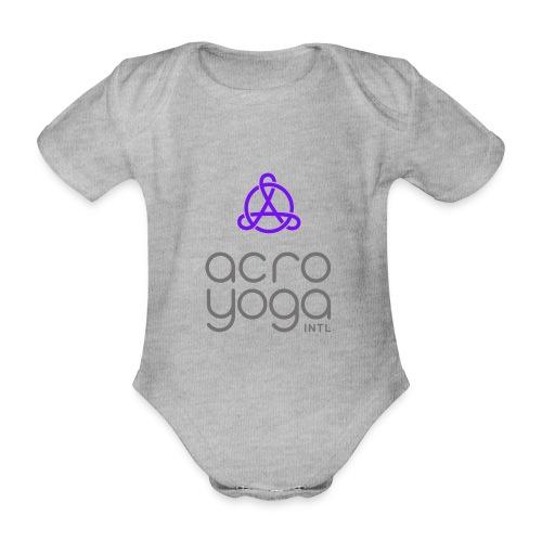 AcroYoga International Logo - Organic Short-sleeved Baby Bodysuit