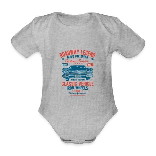 Roadway Legend - Baby bio-rompertje met korte mouwen