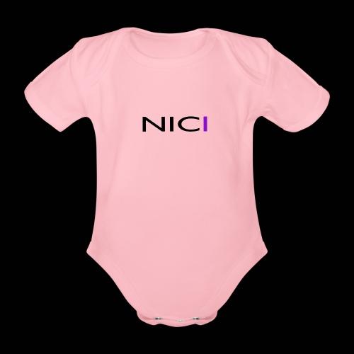 NICI logo Black - Vauvan lyhythihainen luomu-body