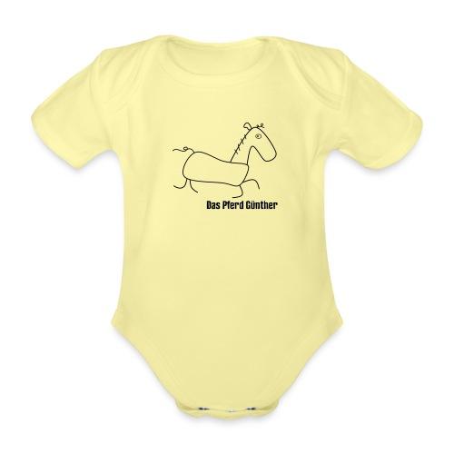 Das Pferd Günther - Baby Bio-Kurzarm-Body