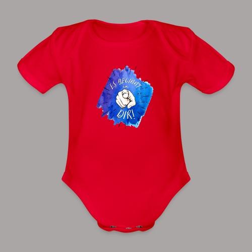 shirt blau tshirt druck - Baby Bio-Kurzarm-Body