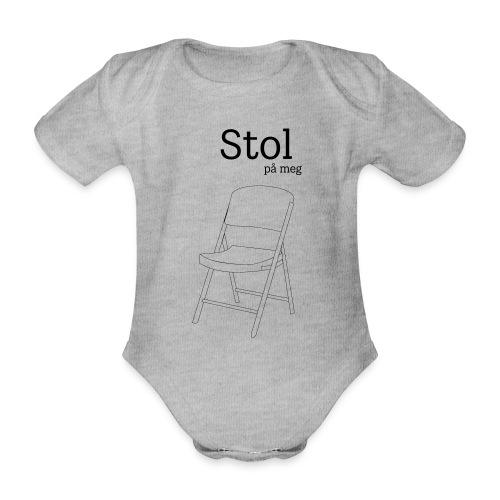 Stol på meg - Økologisk kortermet baby-body