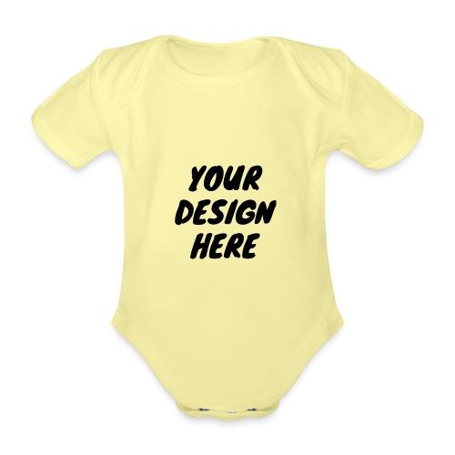 print file front 9 - Organic Short-sleeved Baby Bodysuit