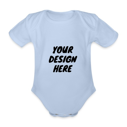print file front 9 - Organic Short-sleeved Baby Bodysuit