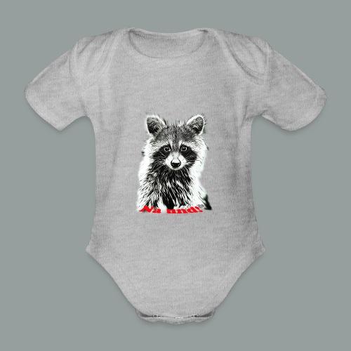 Waschbärbaby - Baby Bio-Kurzarm-Body