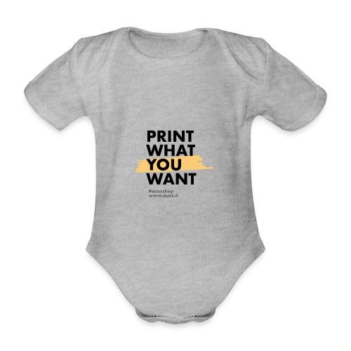 Print what you want - Body ecologico per neonato a manica corta