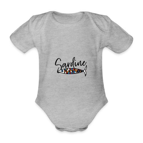 Sardine colorate all'amo - Body ecologico per neonato a manica corta
