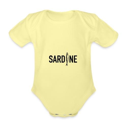 SARDINE - Body ecologico per neonato a manica corta
