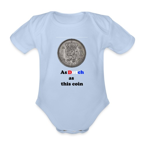 Hollandse Gulden - Baby bio-rompertje met korte mouwen