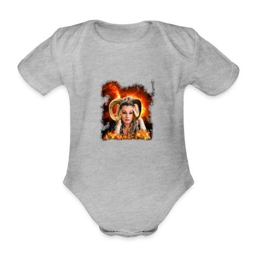 Widder Lady - Baby Bio-Kurzarm-Body