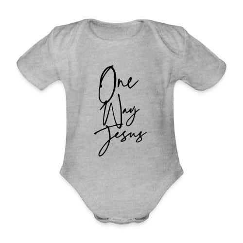 one way jesus - Body orgánico de manga corta para bebé