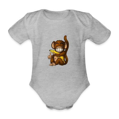 Super Fröhlicher Affe - Baby Bio-Kurzarm-Body
