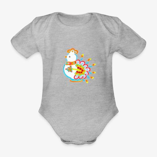 Vogel neon bunt - Baby Bio-Kurzarm-Body