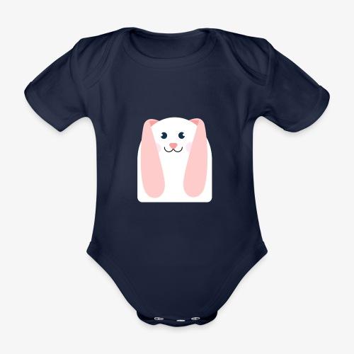 conejo kawaii - Body orgánico de manga corta para bebé