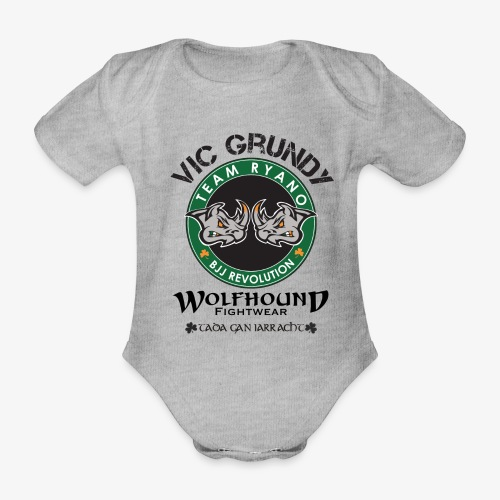 vic grundy back png - Organic Short-sleeved Baby Bodysuit