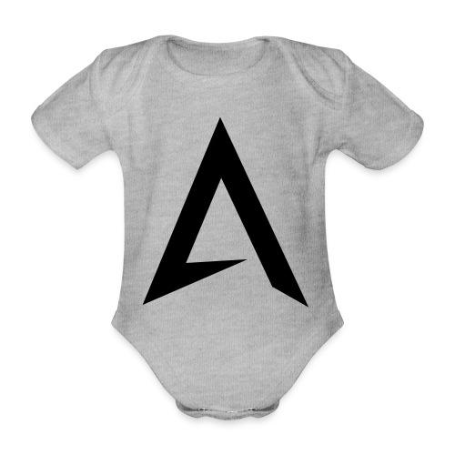 alpharock A logo - Organic Short-sleeved Baby Bodysuit