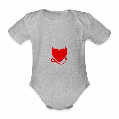 diablita - Body orgánico de maga corta para bebé