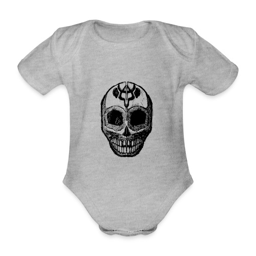 Skull of Discovery - Organic Short-sleeved Baby Bodysuit