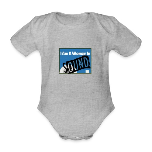woman in sound - blue - Organic Short-sleeved Baby Bodysuit