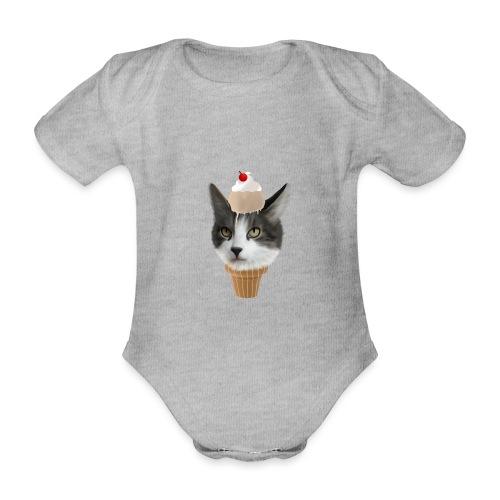 Ice Cream Cat - Baby Bio-Kurzarm-Body