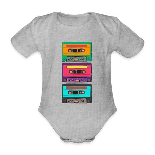 Colorful Cassettes row - Ekologisk kortärmad babybody