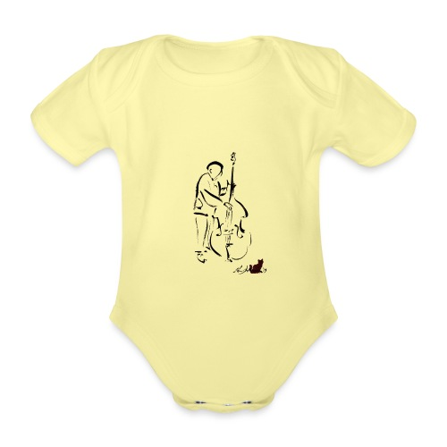 CONTRABBASSISTA - Body ecologico per neonato a manica corta