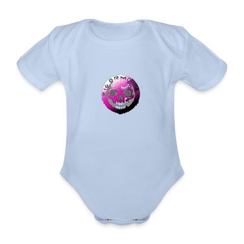 Rigormortiz Purple Design - Organic Short-sleeved Baby Bodysuit