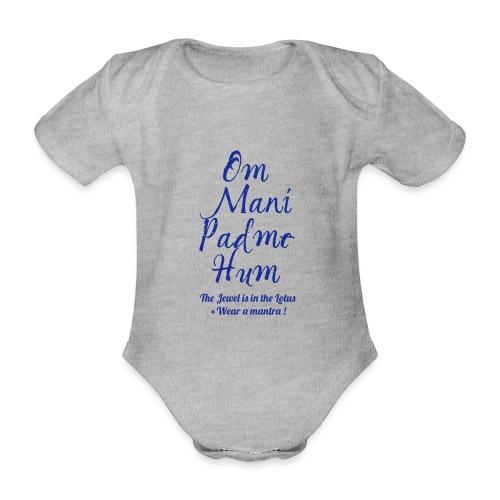 OM MANI PADME HUM - Body ecologico per neonato a manica corta