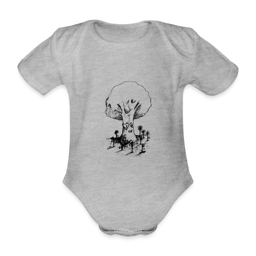 Sage Tree - Organic Short-sleeved Baby Bodysuit