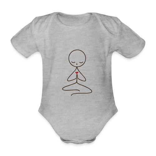 Peace & Love - Ekologisk kortärmad babybody