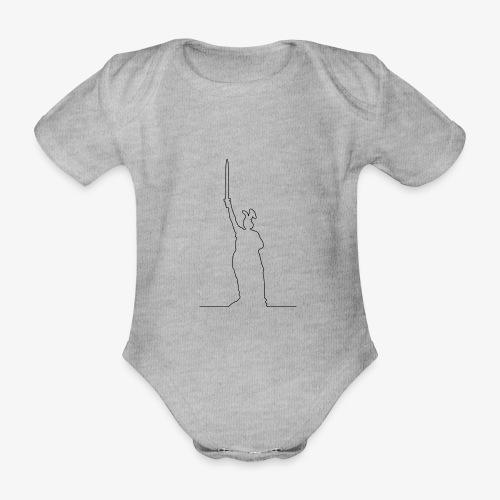 Kontur des Hermannsdenkmals - Baby Bio-Kurzarm-Body