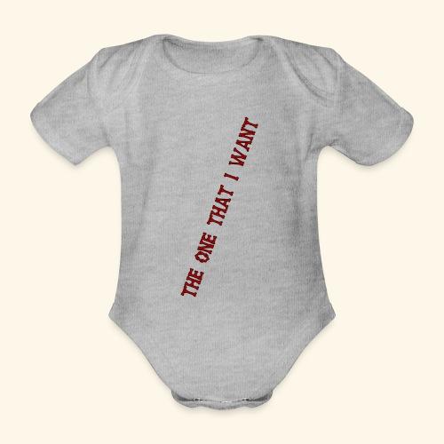 The One that i want rot/schwarz - Baby Bio-Kurzarm-Body