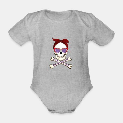 Feminist skull - Body orgánico de maga corta para bebé
