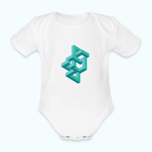 Illusion Optische Täuschung - Organic Short-sleeved Baby Bodysuit
