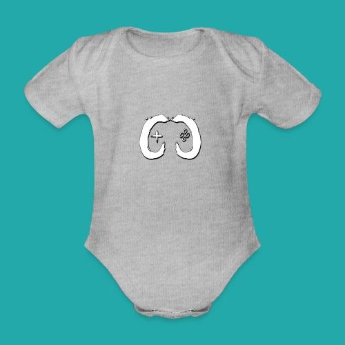 Crowd Control Logo - Organic Short-sleeved Baby Bodysuit