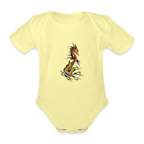 Guitar Dragon - Baby Bio-Kurzarm-Body