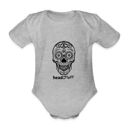 Skull & Logo black - Baby Bio-Kurzarm-Body