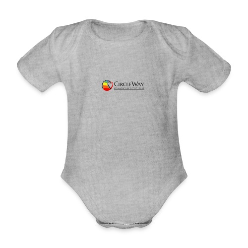 Circleway Permaculture of the heart Logo - schwarz - Baby Bio-Kurzarm-Body