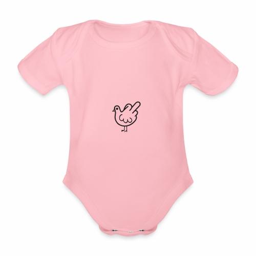 Huhn mit Mittelfinger - Baby Bio-Kurzarm-Body