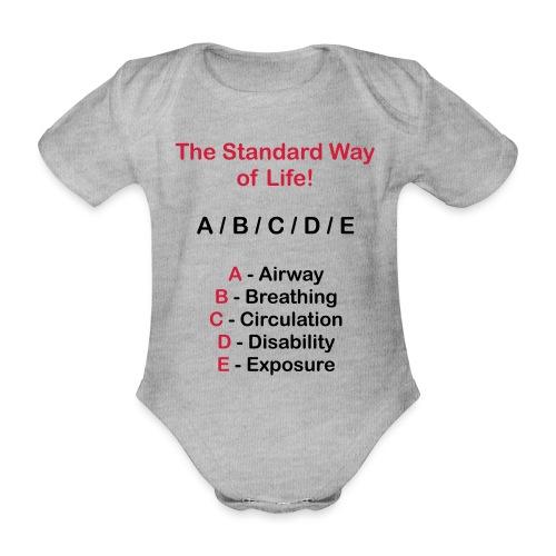 Rettungsdienst ABC Schema - Baby Bio-Kurzarm-Body